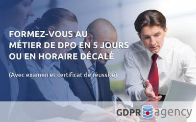 La prochaine session de formation de DPO aura lieu du 15 au 19 octobre 2018 à Nivelles